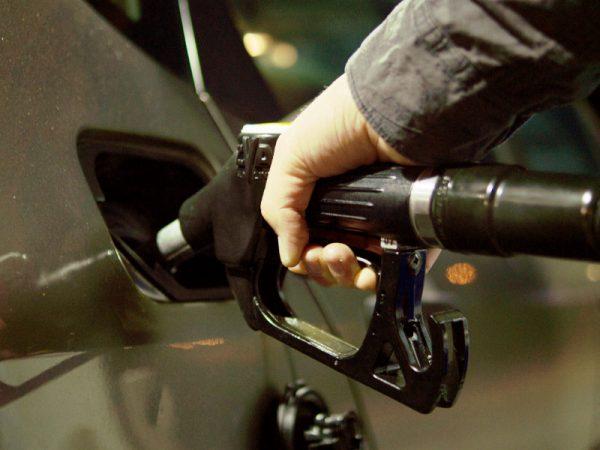 close up pumping gas
