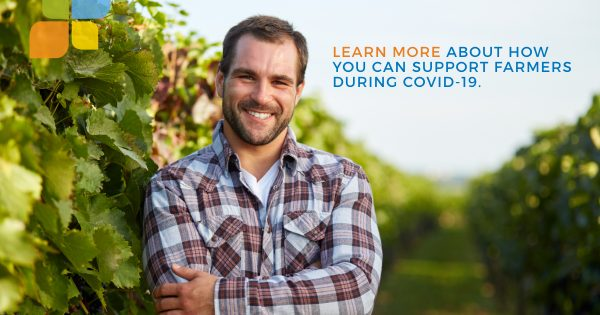 man standing and supporting local farms and farmers