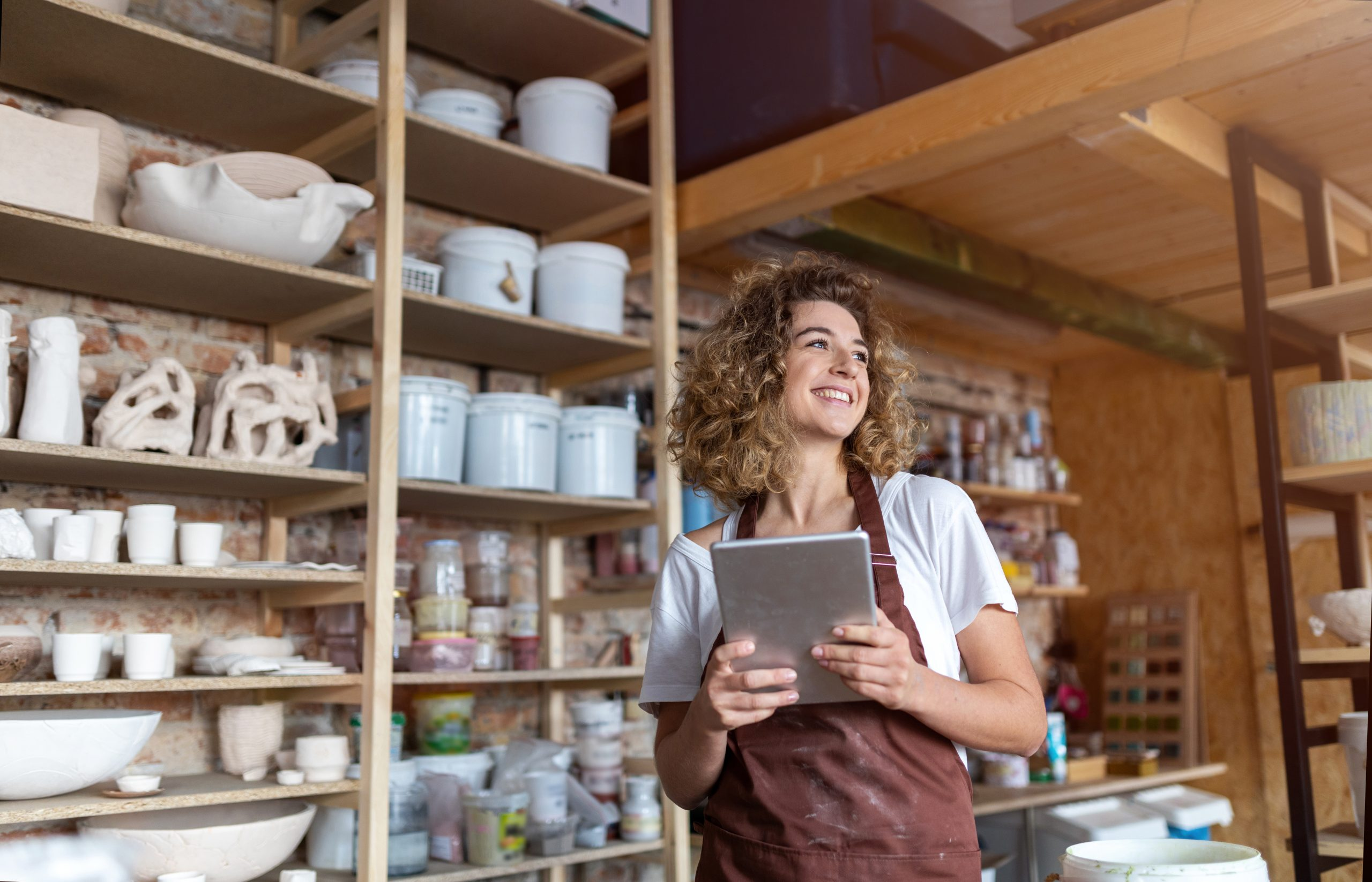 girl looking for small business insurance